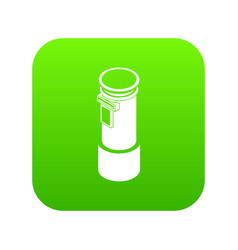 postal pillar icon green vector image