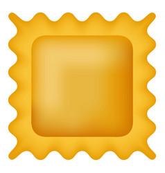 quadretti pasta icon realistic style vector image
