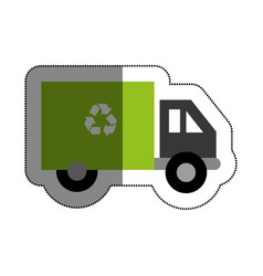 recycle truck isolated icon vector image