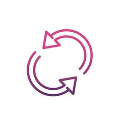 reload network social media icon line vector image