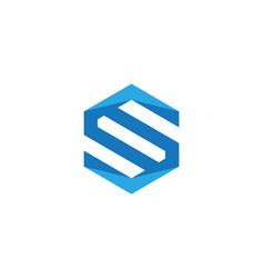 S logo hexagon icon vector