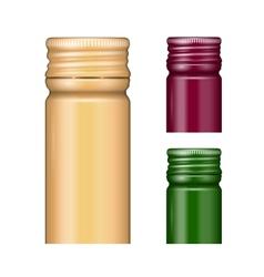 Screw bottle caps vector image