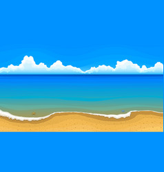 sea beach with clouds on horizon vector image
