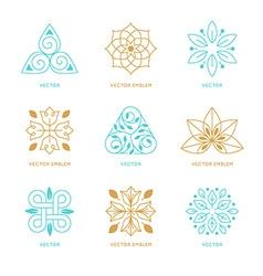set of logo design templates and symbols vector image