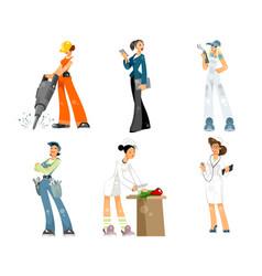 Set of professions vector