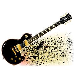 Shattering blues guitar vector