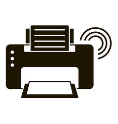 Smart printer icon simple style vector