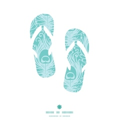 soft peacock feathers flip flops silhouettes vector image