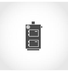 Solid fuel boiler icon vector image