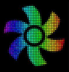 Spectrum dot rotor icon vector