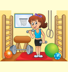 Sport and gym theme image 4 vector