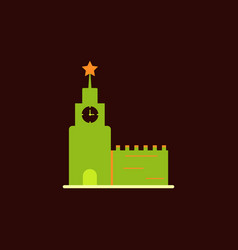 St basils cathedral in moscow red square vector