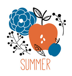 Summer card print or poster vector