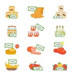 Supermarket Icons Set vector