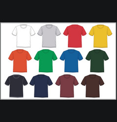 template t-shirt colorful vector image
