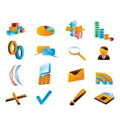 Three dimensional icons vector