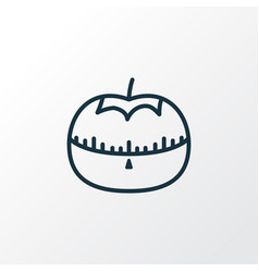 tomato timer icon line symbol premium quality vector image