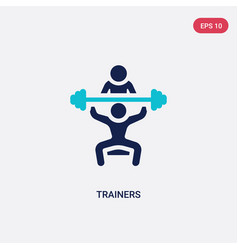 Two color trainers icon from gym and fitness vector