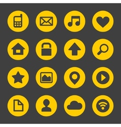 Universal Simple Web Icons Set 1 vector image