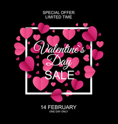 Valentines day sale discont card eps10 vector