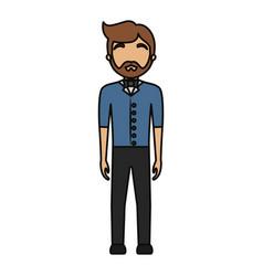 waiter man ilustratio vector image