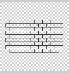 wall brick icon in flat style isolated on vector image