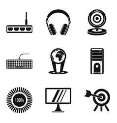 Web expert icons set simple style vector