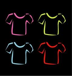 Abstract drawing of tshirts vector image