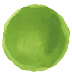 abstract watercolor green hand painted dots vector image
