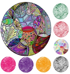 Circle of elements of abstraction vector