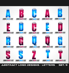 collection of creative logo letter designs for vector image vector image