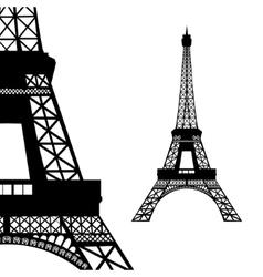 Eiffel tower in Paris vector image vector image