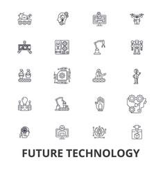 future technology future vision futuristic vector image
