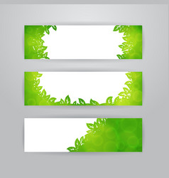 green leaves banners vector image vector image