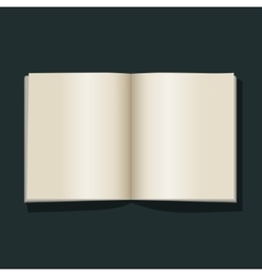 Open book blank empty pages vector image vector image