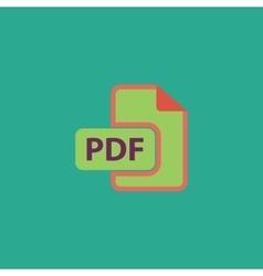 pdf flat icon vector image
