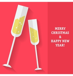 Sparkling wine christmas vector