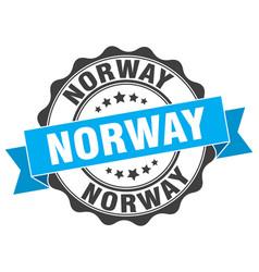 norway round ribbon seal vector image vector image