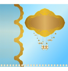 Vintage background with lace ornaments vector image