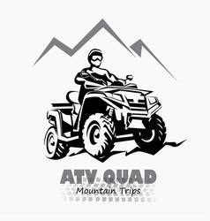 atv quad bike stylized silhouette symbol design vector image vector image