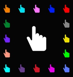 cursor icon sign Lots of colorful symbols for your vector image
