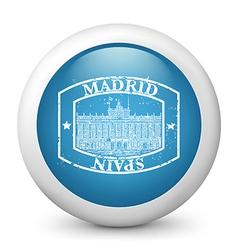Madrid Postage icon vector image vector image