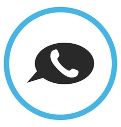 Phone Message Flat Rounded Icon vector image