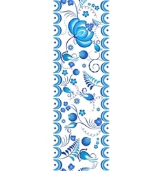 Seamless floral pattern Gzhel with blue ornamental vector image