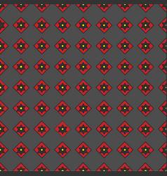 Seamless pattern of geometric shapes on a dark b vector