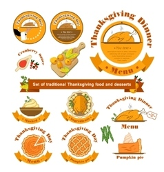 Set with a traditional food on vector image