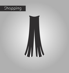 black and white style icon women pants vector image