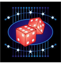 Gambling neon vector image vector image