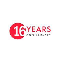 16 years logo vector