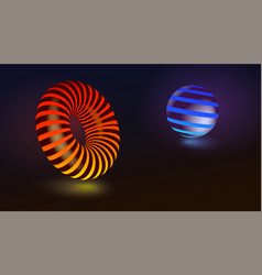 abstract geometric shapes circle and sphere vector image